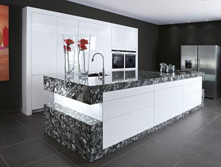 Phòng bếp theo phong cách hiện đại.
