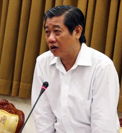 Phó chủ tịch UBND TP HCM Hứa Ngọc Thuận phát biểu tại buổi làm việc. Ảnh: Tá Lâm.