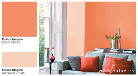 Thay đổi không gian nhàm chán bằng màu sắc.