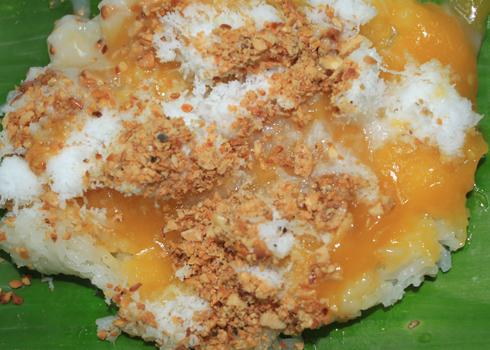Xôi cadé là một món ăn rất đẹp mắt và ngon miệng. Ảnh: Khánh Hòa