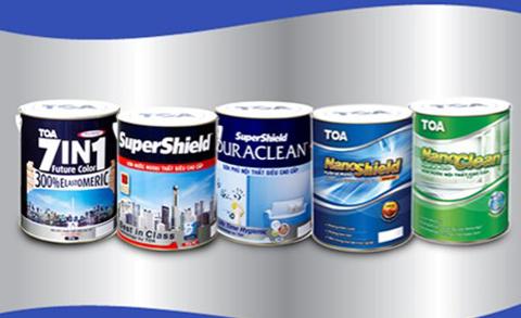 Một số sản phẩm sơn TOA.