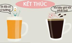 Bia và cà phê tác động tới não như thế nào