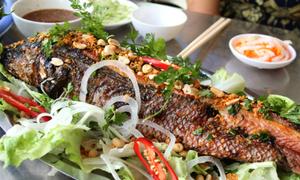 Cá lóc nướng trui đặc sản miền quê Nam Bộ