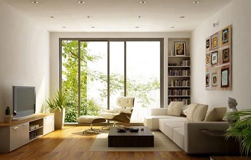 Bằng ánh sáng tự nhiên phòng khách như thóang đãng hơn.