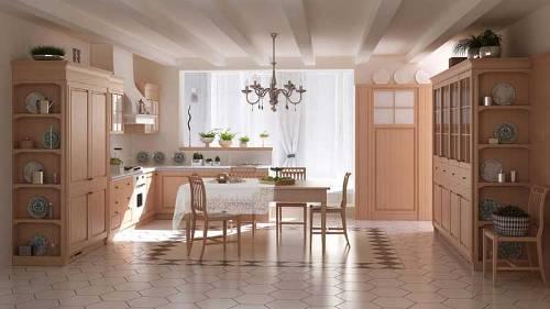 Nếu bếp đã có cửa sổ thì yêu cầu về thiết bị chiếu sáng ít hơn..