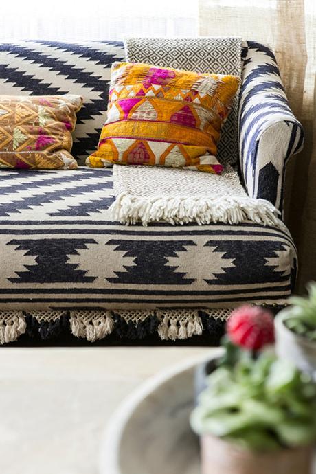 Nhà đẹp với vải thổ cẩm