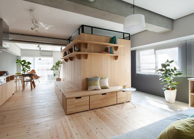 Cải tạo nhà 64 m2 có hai phòng ngủ