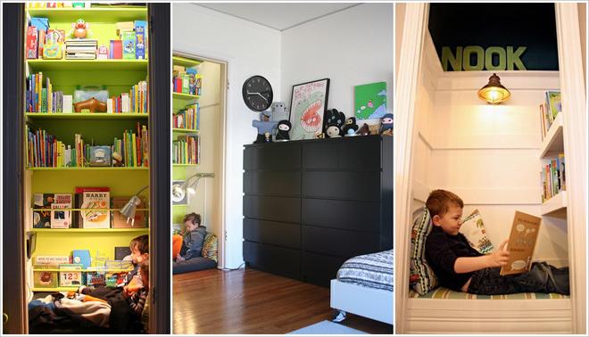 10 ý tưởng làm giá sách cho phòng của bé