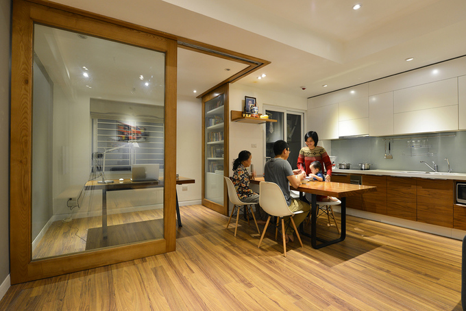 Căn hộ tái định cư 71 m2 cho gia đình 3 thế hệ