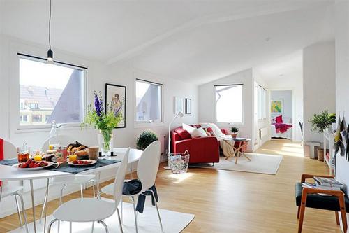 Bố trí căn hộ gác mái bề ngang siêu hẹp
