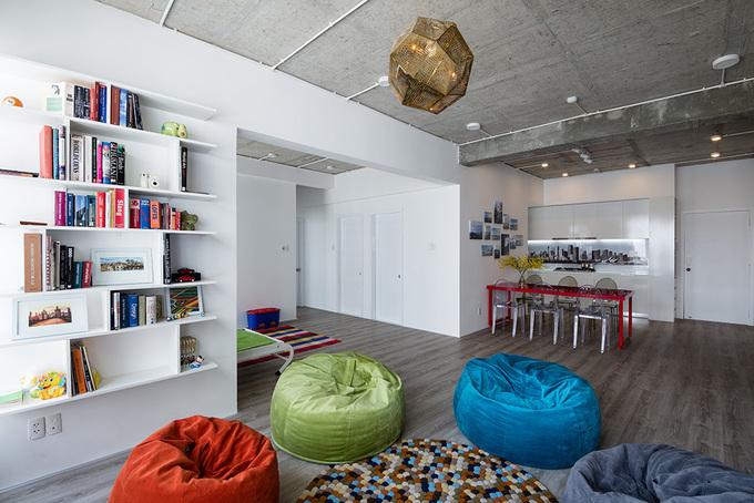 Thiết kế tiện nghi mà tiết kiệm trong căn hộ gia đình trẻ