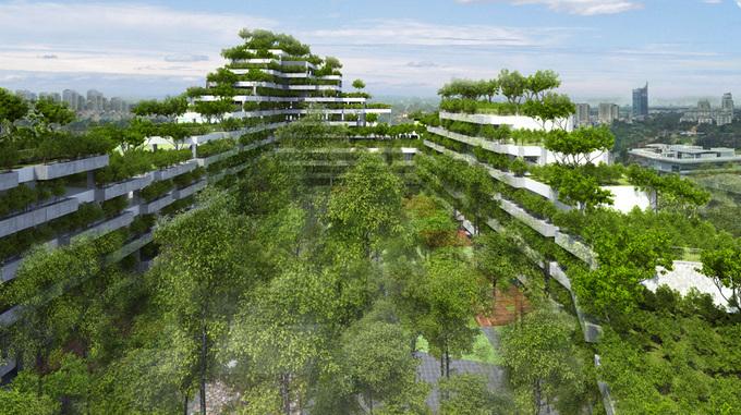 Thiết kế giống như rừng cây của Đại học FPT TP HCM