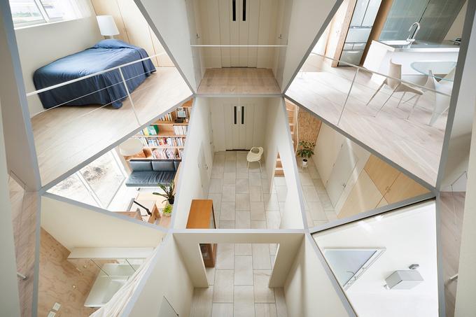 Ngôi nhà Nhật với giếng trời độc đáo hình lục giác