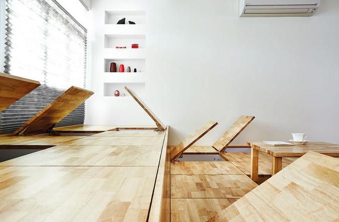 Căn hộ giấu đồ đạc dưới sàn nhà
