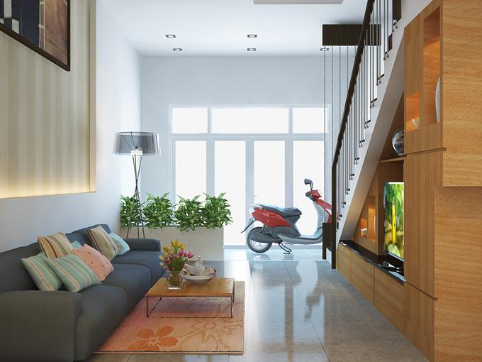 Thiết kế nhà 60 m2 cho người không thích tầng cao
