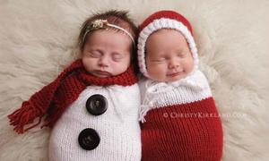 Loạt ảnh các bé đáng yêu như thiên thần trong Giáng sinh ấm áp