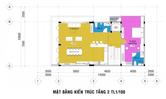 Xây nhà ở 4 tầng kết hợp văn phòng tràn ngập mảng xanh