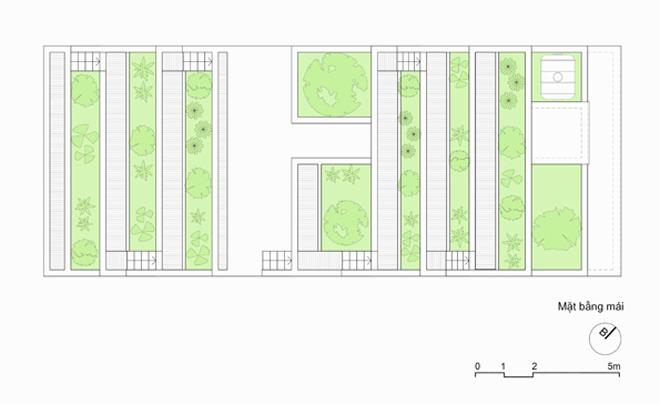 Nhà không mái xanh mát ở Hà Tĩnh