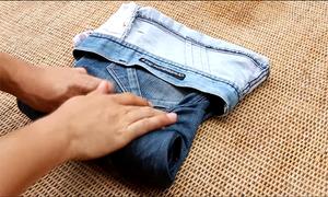 10 cách gấp mọi loại quần áo phẳng phiu chỉ trong vài giây