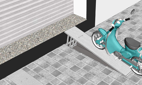 Bục ngầm lên xuống ôtô, xe máy cho nhà phố bị giải tỏa vỉa hè