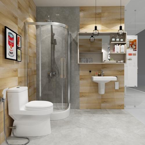 Phòng tắm dành cho người độc thân Không gian nhỏ, hạnh phúc to.