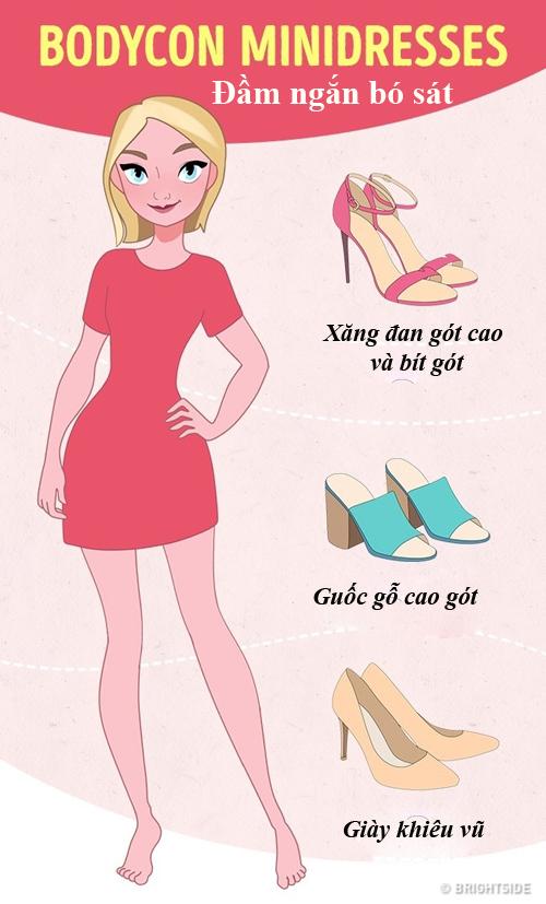 Cách phối váy và giày dép không phải cô gái nào cũng biết