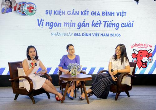 MC Thanh Thảo, đầu bếp Thái Hòa và thạc sĩ tâm lý Đinh Quỳnh Châu chia sẻ chuyện gia đình.