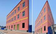 Tòa nhà 3 tầng nhìn 'mỏng như tờ giấy'