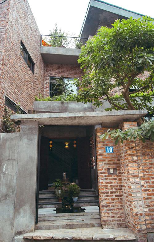 Nhà không sơn trát khiến hàng xóm tò mò ở Vĩnh Phúc