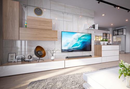 Do đó, các gia đình thường chú trọng đến việc thiết kế phòng khách sao cho đáp ứng tiêu chí sang trọng, đẳng cấp nhưng vẫn có không gian để thư giãn.