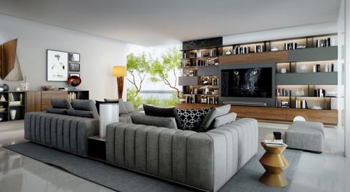 Màu sắc chủ đạo mà hai nhà thiết kế sử dụng là màu nâu của gỗ và sắc xám đen kim loại, tông màu yêu thích của khách hàng.