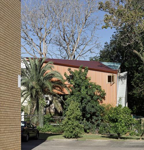 Gia chủ xây nhà tam giác vì không muốn phá cây