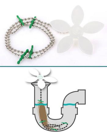 Cơ chế giúp giữ tóc của bông hoa nhựa.