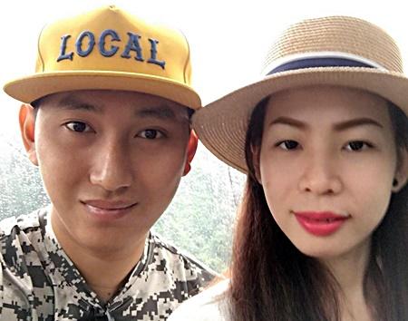 Anh Minh Nhật và vợ khi anh chưa phát bệnh.