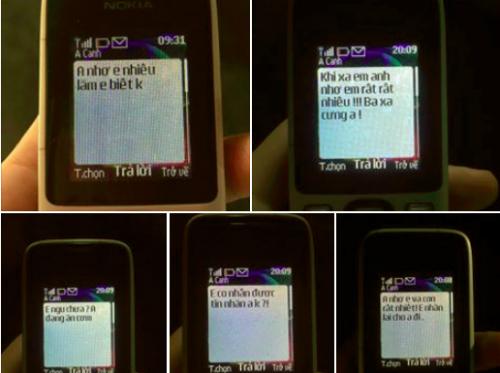 Loạt tin nhắn gửi vợ của bố Quỳnh. Ảnh: Nguyễn Xuân Quỳnh.