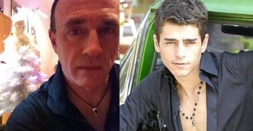 Người đàn ông tên Alan (bên phải) đã lấy những hình ảnh của chàng người mẫu Thổ Nhĩ Kỳ làm hồ sơ hẹn hò giả mạo. Ảnh:Newstral.