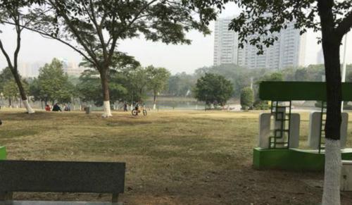 Công viên nơi em bé bị bỏ rơi - Ảnh: SCMP