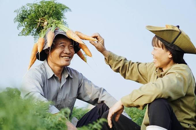 Bộ ảnh của cặp vợ chồng nông dân gây sốt ngày 14/2