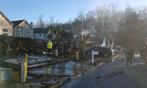 Khung cảnh tan hoang sau đám cháy doAdrienne gây ra. Ảnh: Atlanta Red Cross.