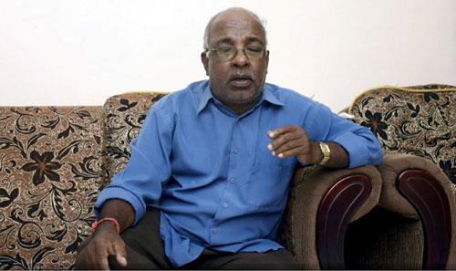 Ông Subramaniam, cha của S.Puspanathan trong một buổi trả lời phỏng vấn. Ảnh New Straits Times