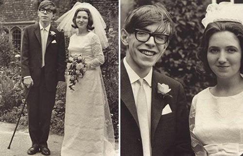 Stephen Hawking cùng người vợ đầu tiên, Jane Wilde. Ảnh: Telegraph.