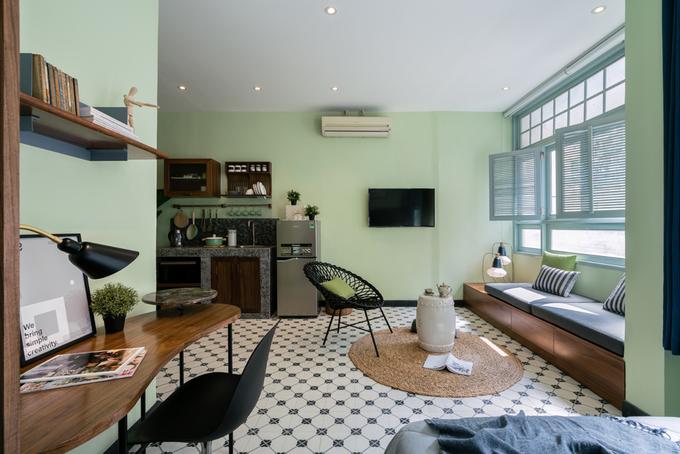 Nhà tập thể 36 m2 như rộng gấp đôi sau khi sửa