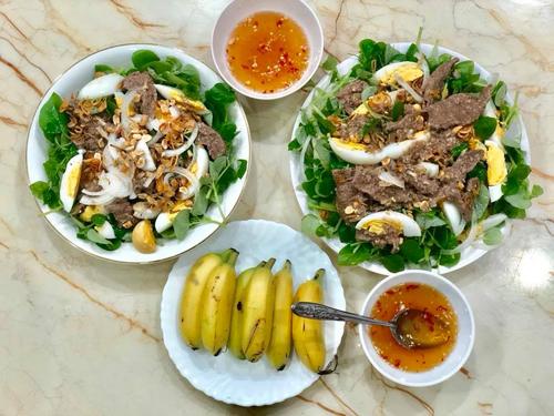Rau càng cua trộn thịt bò dầu giấm ăn đã ngày nghỉ lễ - 4