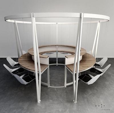 Mọi buổi họp, ngồi uống cà phê sẽ trở nên thư giãn hơn với những chiếc ghế xích đu.