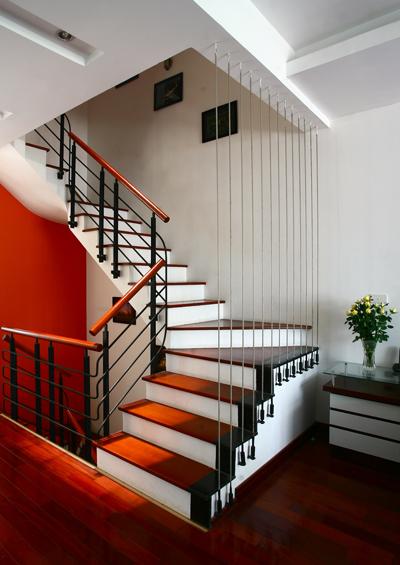 Cầu thang là một thành phần quan trọng cần được tính toán kỹ khi xây nhà. Ảnh minh họa: Hà Thành.