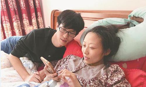 Zhang quyết sinh con dù có thể ảnh hưởng tới tính mạng mình. Ảnh: Chinanews/