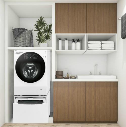 9 ý tưởng bài trí khiến phái đẹp mê bước chân vào phòng giặt - 8