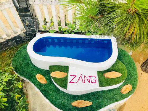 Ông bố Việt xây bể bơi mini cho con khiến người nước ngoài thích thú