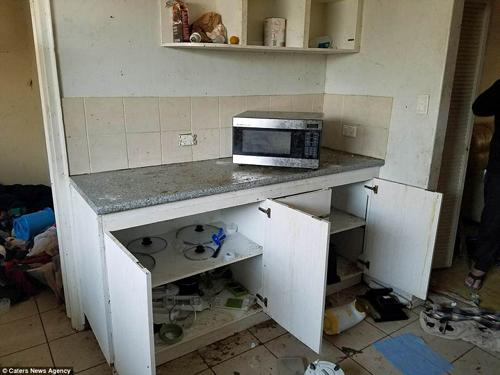 Tệhơnlà đồ đạc trong nhà bị phá hoại. Các cửa kính bị đập vỡ, tủ lạnh chứa đồ ăn thối, các ghế sofa bị hất tung, bồn rửa bị phá hoại...