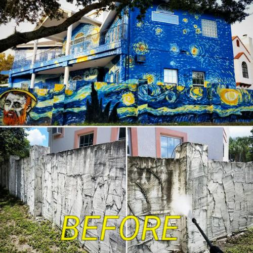 Ngôi nhà trước và sau.